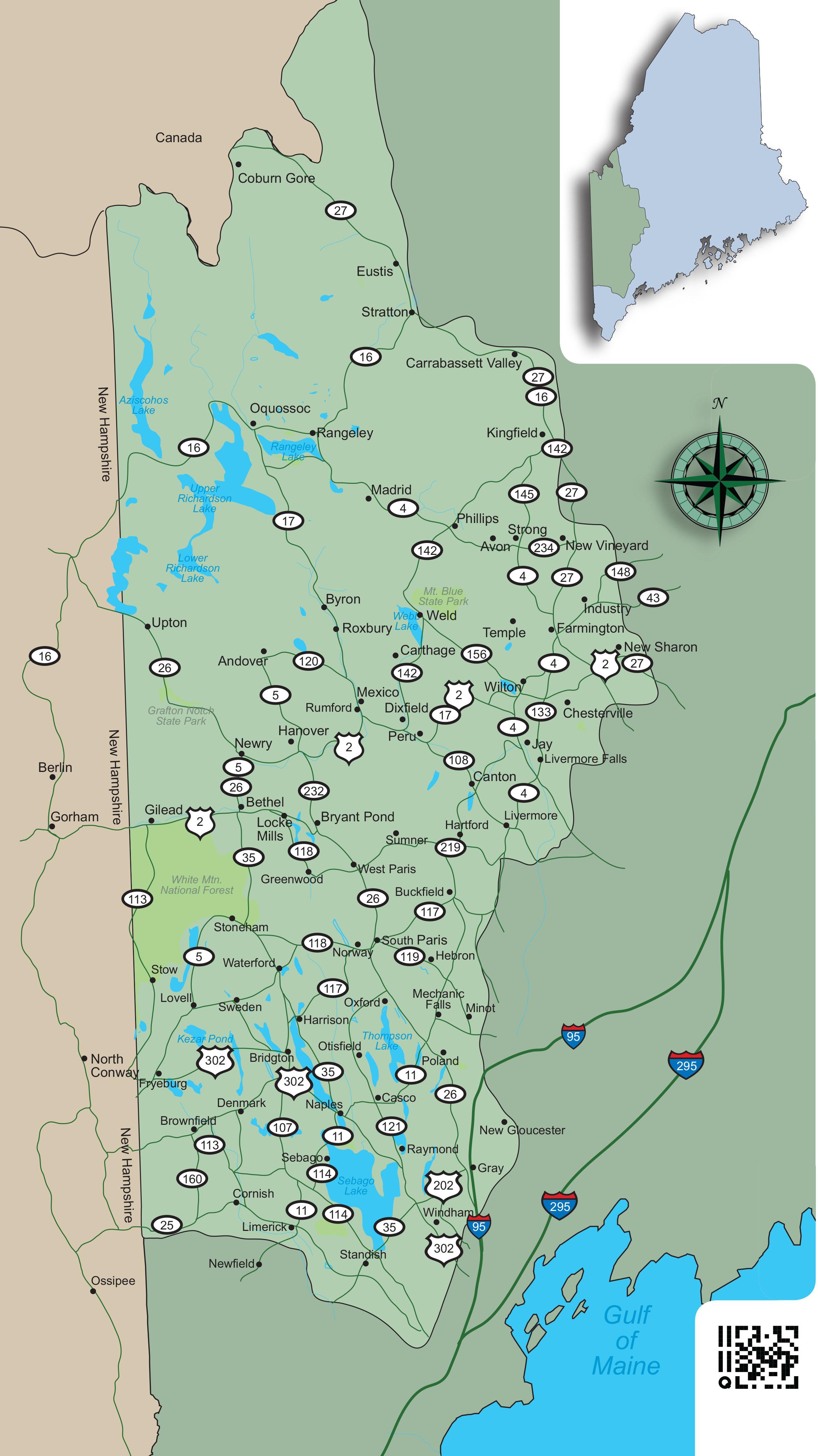 Map West Coast Maine